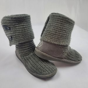 Genuine suede and sheepskin Bearpaw knit boots